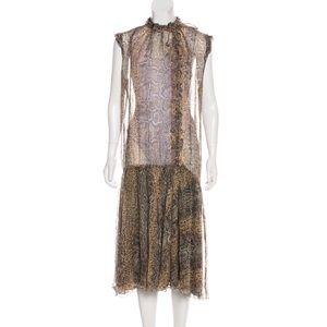 Dolce & Gabbana animal print midi dress L Italy